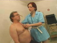 Sexy nurse gets her wet cunt screwed