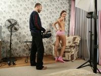 Frisky flexible bitch and her producer are getting laid
