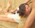 : Charming brunette's mouth stretched and gagged : sex scene #10