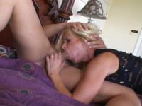 Sandra : Today she gets a nice portion of sperm for supper : sex scene #4
