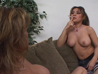 Catalina : Nice bitches are sucking clits just on the sofa : sex scene #8