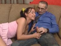 Olga : Young sexy schoolgirl perverts her old professor. : sex scene #4