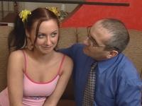 Olga : Young sexy schoolgirl perverts her old professor. : sex scene #2