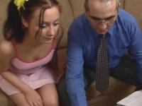 Olga : Young sexy schoolgirl perverts her old professor. : sex scene #1