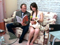 Sofia : Little gal with big boobs rides her old professor : sex scene #2