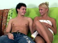 Alina : Gorgeous blonde chokes on a hard cock : sex scene #7