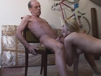 : Horny old man fucks a hot young blonde : sex scene #10