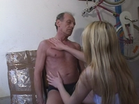 : Horny old man fucks a hot young blonde : sex scene #6