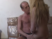 : Horny old man fucks a hot young blonde : sex scene #7
