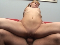 Kristina : Adorable blonde rosebud tastes hot sausage : sex scene #1