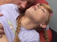 Kristina : Adorable blonde rosebud tastes hot sausage : sex scene #3