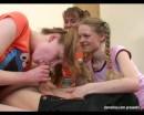 Kate : Three sexy teen babes capture naпve guy : sex scene #7