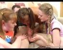 Kate : Three sexy teen babes capture naпve guy : sex scene #9